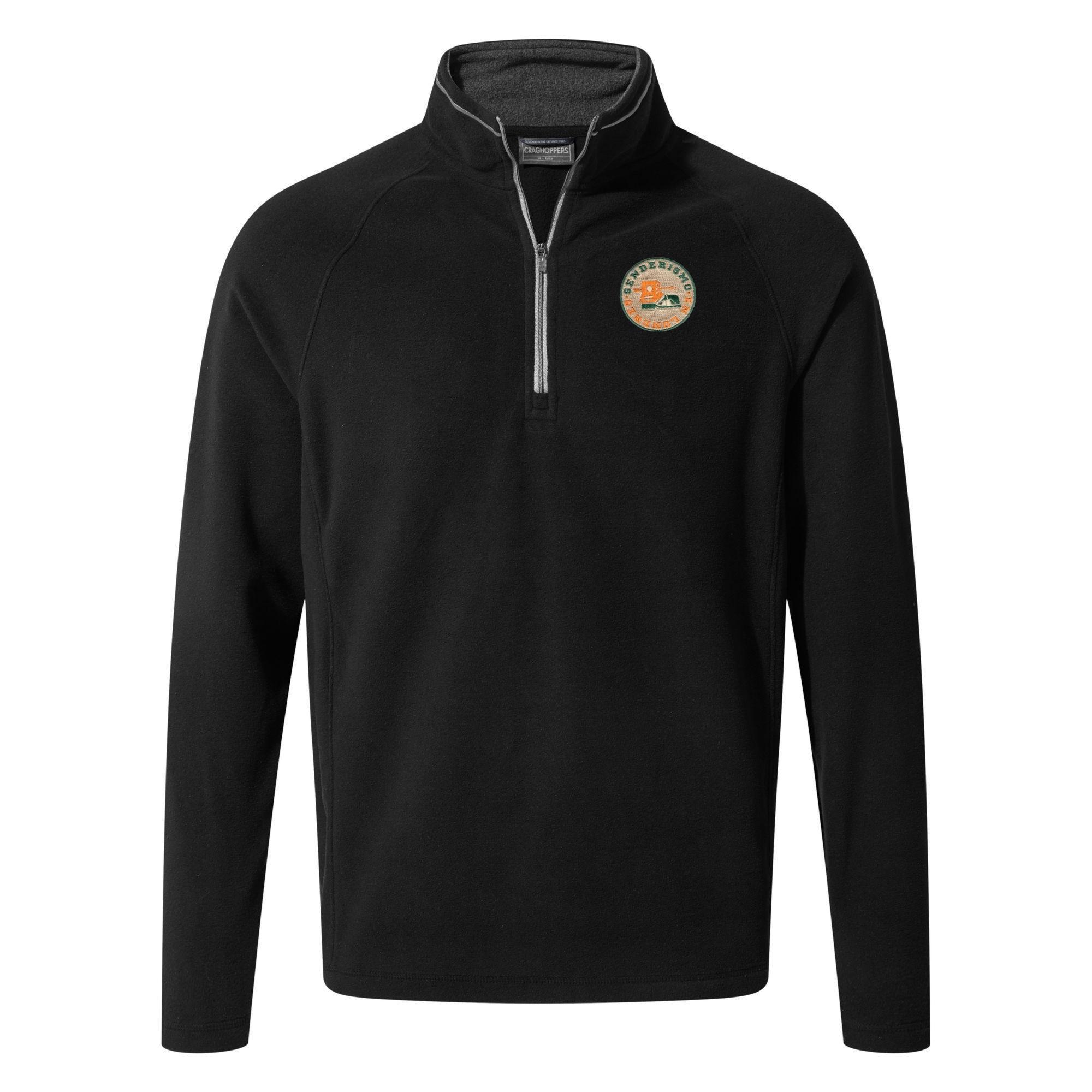 CRAGHOPPERS Men's Coordinate Fleece Corey V Half-Zip - Black