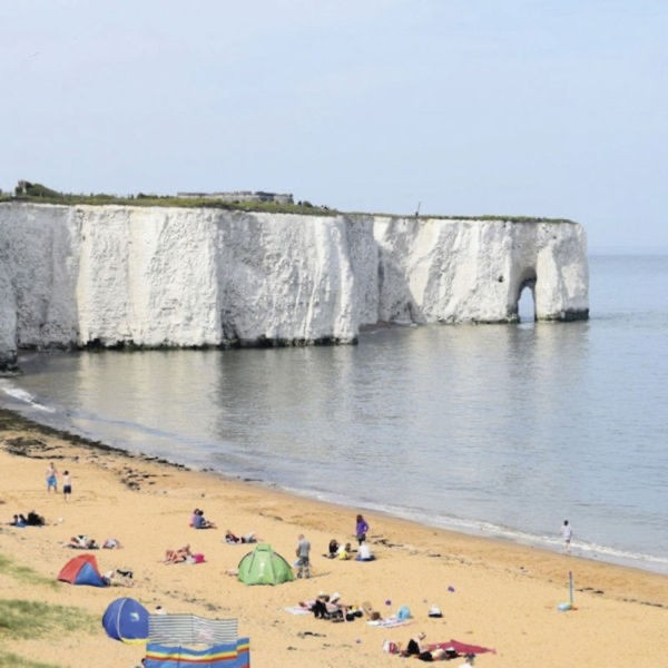 Sandy bays of Ramsgate, Broadstairs and Margate